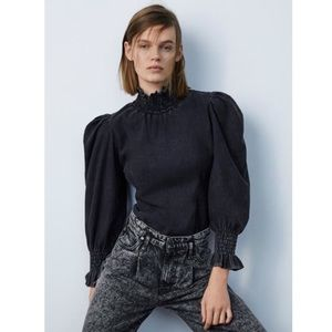 NWT Zara The 80's Caroline Blouse